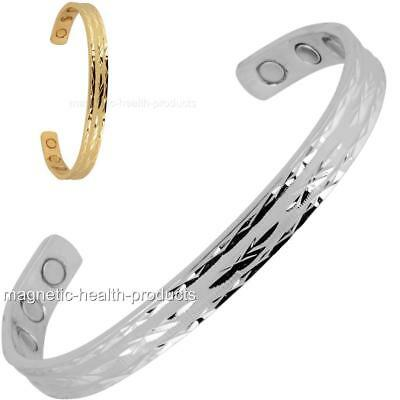 Ladies Copper Magnetic Healing Bangle Gold Silver Bracelet Arthritis Pain Relief