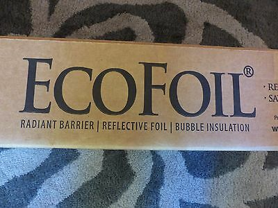 Eco Foil 1,000 Sq Ft Radiant Barrier Attic Reflective Insulation Perforated Sola