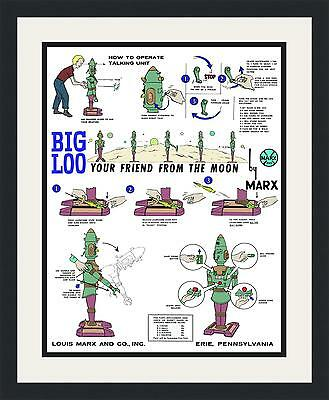 Big Loo Instructions Page Two - Custom Framed and Colorized Giant Size 23 X 28