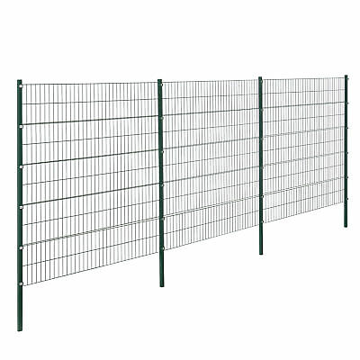 [pro.tec] Fence 6x2M Green Double Rod Fence Set Grid Meshes Metal Fence