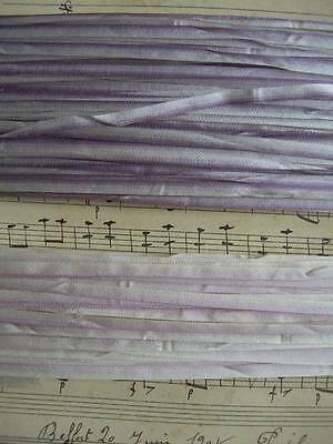 2 lengths antique French pure silk taffeta ombree ribbon ribbonwork embroidery