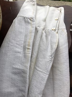 Stunning Antique French C1900s Damask Underskirt Mother Of Pearl Prop/costume