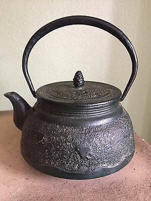 Antique Japanese Iron Teapot Signed