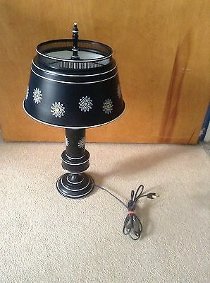 Metal Toleware Lamp with Daisy's