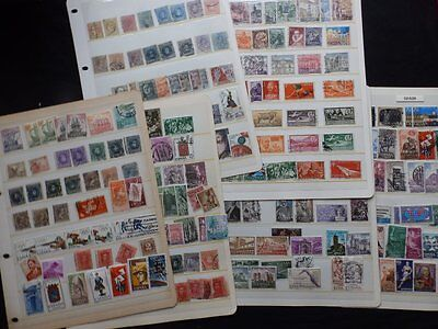 Spain Mint & Used Stamp Collection On 6 Stock Cards (As3)