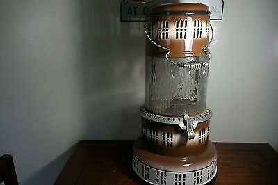 Vintage Modle 750X/ Perfection Kero Heater With Glass Pyrex Globe