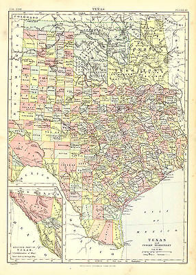 Texas and Indian Territory. Encyclopaedia Britannica, 9th edition. Circa. 1889.