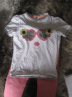 Girls Baby k jeans and T-shirt, aged 6-7 years