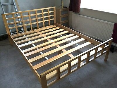 NEXT King size wooden bed frame.