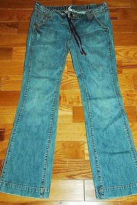 Old Navy Maternity jeans ~ size 4 Small S under the belly drawstring Boot Cut