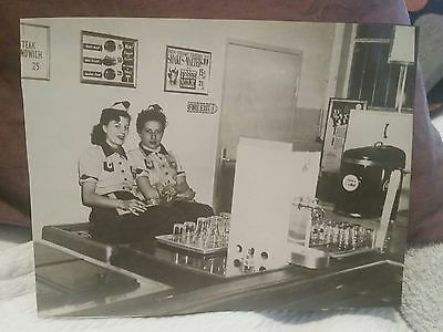 1940s-50s Soda Fountain Waitresses Coke Photograph