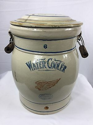 Antique Red Wing 6 Gallon Water Cooler with Handles and Top *Read for Condition*