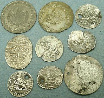 Lot Of 9 Ottoman Silver Coins