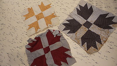 Lot of ANTIQUE QUILT BLOCKS, Different Patterns, Pieces, Early Fabrics