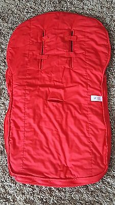 Mothercare Universal Cosy Toes Footmuff Pushchair Trolley Red Fleece Lined