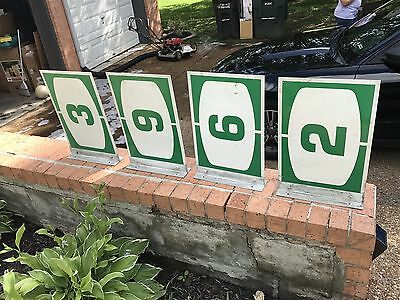 """Hess Pump Topper Double Sided Flange Signs 18""""x12""""  L@@K"""