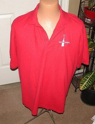 Port Authority Coca Cola 125 Years Red Large Short Sleeve Polo Shirt