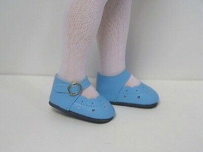"""SKY BLUE Strappy Sandals Doll Shoes For Tonner 14/"""" Betsy McCall Debs"""
