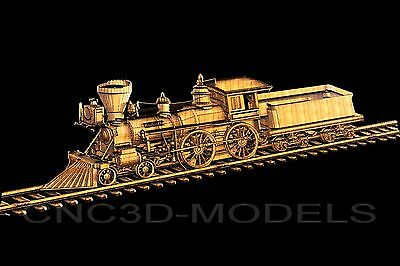 3D Model STL for CNC Router Engraver Carving Artcam Aspire Train Decor Pano 7057