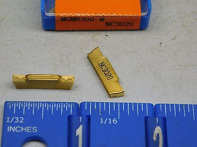 Korloy Mgmn-300-M Carbide Cut-Off Inserts (10 Pcs) Grade Nc3020