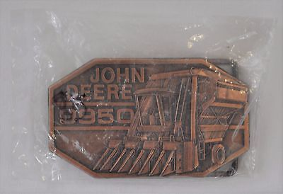 Vintage NOS 1985 John Deere Tractor Company 9950 Belt Buckle Cotton Picker New