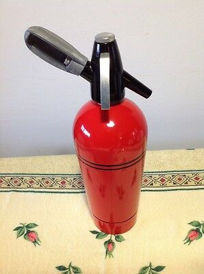 Retro Vintage Anodised Soda Siphon Vibrant Red