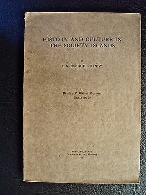 HISTORY and CULTURE in the SOCIETY ISLANDS BISHOP MUSEUM 1930