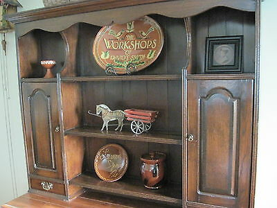 Early Vintage Primitive Wall Cabinet Cupboard Large Dark Wood Original Hardware