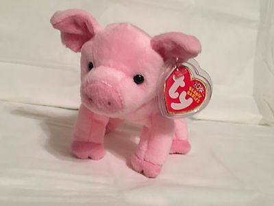 9810aedda05 TY Beanie Baby - HAMLET the Pink Pig - Pristine with Mint Tags - RETIRED