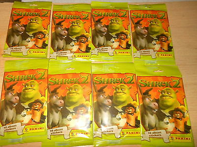 Shrek 2  Panini Stickers lot  (8) New in Package (2004)