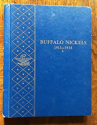 Complete Set of Buffalo Nickels in Whitman ALBUM. No 3 legger or 1918/7-D