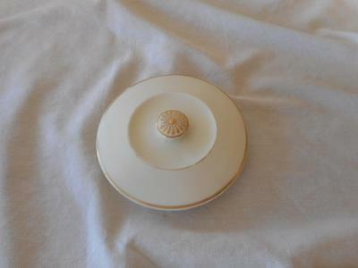 Royal Worcester China Works Gold & Blush Lid  Potpourri  Replacement Only