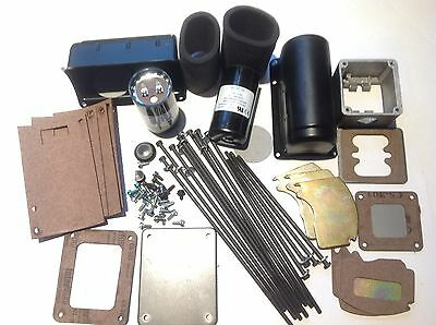Electric Motor Accessory Assortment for 48 Frame Motor: covers, capacitors, etc.