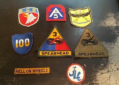 US Army Patch Lot WW2 Vietnam and post war