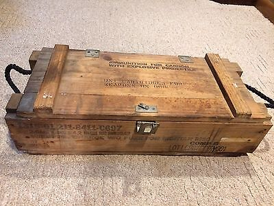 Wooden Ammunition Box Crate M30 Cartridges For Weapons CannoN Projectile