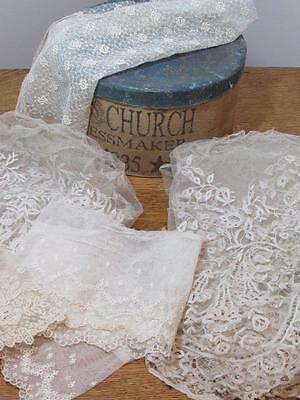 ANTIQUE LACE FLOUNCE MIXED Cutter Repurpose Dolls Study