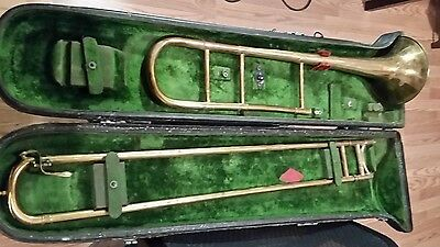 H.n. White The King Medium Bore Trombone Serial 17220 All Original With Case