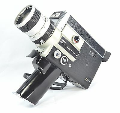 【WORKING】CANON 518-SV  SUPER 8 MOVIE CAMERA 18,24,35 fps  SEE VIDEO BELOW w/Case