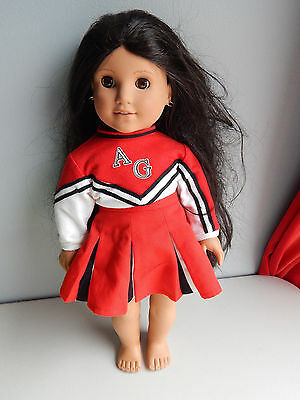 """American Girl Josefina Doll  Pleasant Company 18"""" Inches w/ Cheerleading Outfit!"""