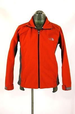 youth boys red gray THE NORTH FACE full zip fleece jacket outdoor sport summit L