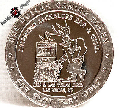 $1 Route Slot Token Laughing Jackalope Casino 1997 G Mint Las Vegas Nevada Coin