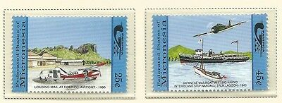 1990 Air and Sea mail Set of 2  Complete MUH/MNH as Issued