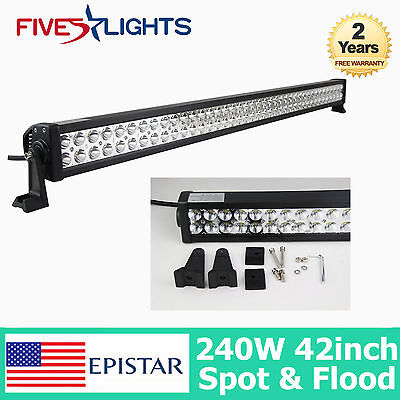 "42Inch 240W Led Light Bar Spot Flood 4Wd Driving Offroad Tractor 40"" 300W Boat"