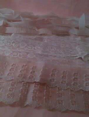 Lot of Antique/Collectible Lace Trim Edging  Wedding Dolls Crafts Projects