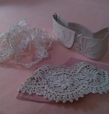 Lot of Antique/Collectible Lace Trim Collars Wedding Dolls Crafts Projects