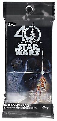 2017 Topps Star Wars 40th Anniversary Guaranteed SKETCH HOT PACK Colored?
