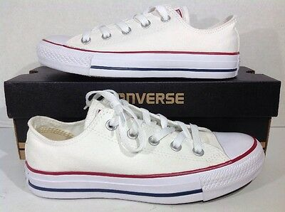 Converse Mens Size 4 / Women's Size 6 All Star OX White Canvas Sneakers ZJ-540