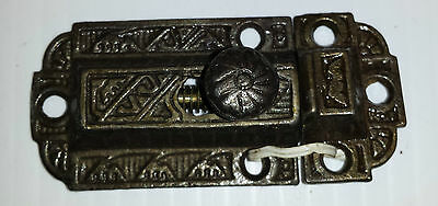 CAST IRON VICTORIAN STYLE CABINET LATCH and catch  (#3)