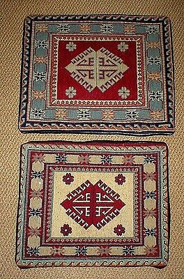 Vintage Needlepoint Pillow Covers (2), Antique Rugs, Gorgeous!!