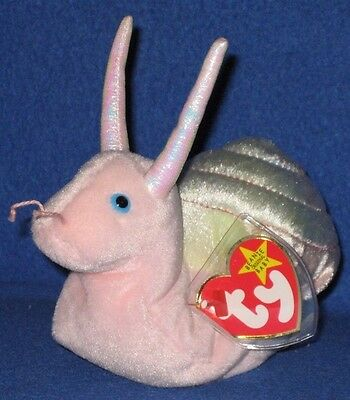 TY SWIRLY the SNAIL BEANIE BABY - MINT with MINT TAGS